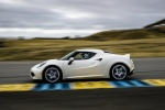 2017 Alfa Romeo 4C Coupe in White - Driving Side View