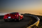2017 Alfa Romeo 4C Coupe in Rosso Alfa - Static Rear Right Three-quarter View