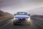 2017 Alfa Romeo Giulia AWD in Montecarlo Blue Metallic - Driving Frontal View