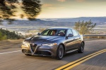 2017 Alfa Romeo Giulia in Vesuvio Gray Metallic - Driving Front Left Three-quarter View