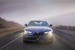 2018 Alfa Romeo Giulia AWD in Montecarlo Blue Metallic - Driving Frontal View