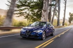 2018 Alfa Romeo Giulia AWD in Montecarlo Blue Metallic - Driving Front Left View