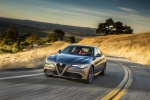 2018 Alfa Romeo Giulia in Vesuvio Gray Metallic - Driving Front Left View