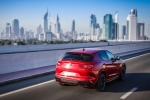 2018 Alfa Romeo Stelvio Quadrifoglio AWD in Rosso Competizione Tri-Coat - Driving Rear Right Three-quarter View