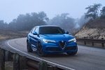 2018 Alfa Romeo Stelvio Quadrifoglio AWD in Montecarlo Blue Metallic - Static Front Right View