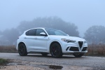 2018 Alfa Romeo Stelvio Quadrifoglio AWD in Trofeo White Tri-Coat - Static Front Right Three-quarter View