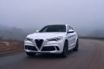 2018 Alfa Romeo Stelvio Quadrifoglio AWD in Trofeo White Tri-Coat - Driving Front Left View