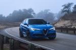 Picture of a 2019 Alfa Romeo Stelvio Quadrifoglio AWD in Montecarlo Blue Metallic from a front right perspective