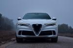 Picture of a 2019 Alfa Romeo Stelvio Quadrifoglio AWD in Alfa White from a frontal perspective