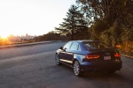 2015 Audi A3 2.0T quattro Sedan in Scuba Blue Metallic - Static Rear Left Three-quarter View