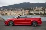 2016 Audi A3 Convertible in Brilliant Red - Static Rear Left View