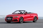 2017 Audi A3 2.0T quattro S-Line Convertible in Tango Red Metallic - Static Front Left Three-quarter View