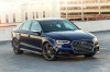 2018 Audi S3 Sedan in Navarra Blue Metallic from a front right view
