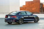 2018 Audi S3 Sedan in Navarra Blue Metallic - Static Rear Right Three-quarter View