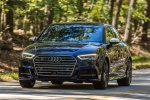 2018 Audi S3 Sedan in Navarra Blue Metallic - Driving Front Left View