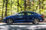 2018 Audi S3 Sedan in Navarra Blue Metallic - Driving Left Side View