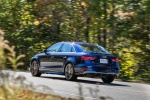 2018 Audi S3 Sedan in Navarra Blue Metallic - Driving Rear Left Three-quarter View