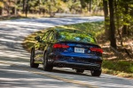2018 Audi S3 Sedan in Navarra Blue Metallic - Driving Rear Left View
