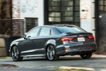 2018 Audi S3 Sedan in Daytona Gray Pearl - Driving Rear Left Three-quarter View