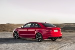 2018 Audi RS3 Sedan in Catalunya Red Metallic - Static Rear Left View