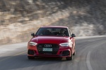 2018 Audi RS3 Sedan in Catalunya Red Metallic - Driving Front Left View