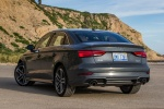 2018 Audi A3 2.0T S-Line quattro Sedan in Monsoon Gray Metallic - Static Rear Left View