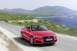 2018 Audi A3 2.0T quattro S-Line Convertible in Tango Red Metallic - Driving Front Right View