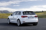 2018 Audi A3 Sportback e-tron in Glacier White Metallic - Static Rear Left View