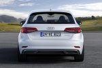 2018 Audi A3 Sportback e-tron in Glacier White Metallic - Static Rear View