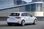 2018 Audi A3 Sportback e-tron in Glacier White Metallic - Static Rear Right Three-quarter View