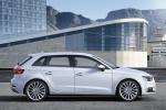 2018 Audi A3 Sportback e-tron in Glacier White Metallic - Static Right Side View