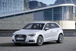 2018 Audi A3 Sportback e-tron in Glacier White Metallic - Static Front Left Three-quarter View