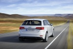 2018 Audi A3 Sportback e-tron in Glacier White Metallic - Driving Rear Right View