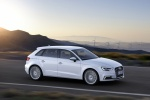2018 Audi A3 Sportback e-tron in Glacier White Metallic - Driving Front Right Three-quarter View