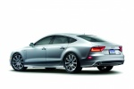 2013 Audi A7 Sportback 3.0T Premium in Ice Silver Metallic - Static Rear Left Three-quarter View