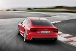 2017 Audi RS7 Sportback in Misano Red Pearl Effect - Driving Rear View
