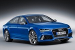2017 Audi RS7 Sportback in Sepang Blue Pearl Effect - Status Front Right Three-quarter View