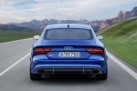 2017 Audi RS7 Sportback in Sepang Blue Pearl Effect - Driving Rear View