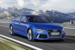 2017 Audi RS7 Sportback in Sepang Blue Pearl Effect - Driving Front Right View