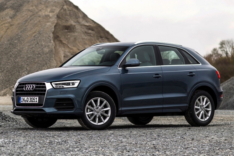 2015 Audi Q3 in Cobalt Blue Metallic from a front left three-quarter view