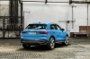 2020 Audi Q3 45 quattro in Turbo Blue from a rear right view