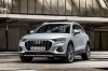 Picture of a 2020 Audi Q3 45 quattro in Florett Silver Metallic from a front left perspective