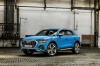Picture of a 2020 Audi Q3 45 quattro in Turbo Blue from a front left three-quarter perspective