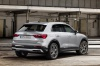 2020 Audi Q3 45 quattro in Florett Silver Metallic from a rear right three-quarter view
