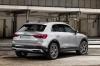 Picture of a 2020 Audi Q3 45 quattro in Florett Silver Metallic from a rear right three-quarter perspective