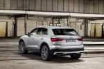 Picture of a 2020 Audi Q3 45 quattro in Florett Silver Metallic from a rear left perspective