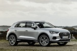 Picture of a 2020 Audi Q3 45 quattro in Florett Silver Metallic from a front right three-quarter perspective