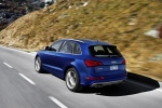2016 Audi SQ5 Quattro in Scuba Blue Metallic - Driving Rear Left Three-quarter View