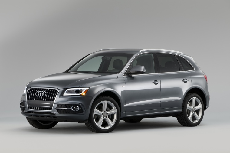 2017 Audi Q5 3.0T Quattro S-Line in Monsoon Gray Metallic from a front left three-quarter view