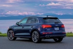Picture of a 2018 Audi SQ5 quattro in Navarra Blue Metallic from a rear left three-quarter perspective